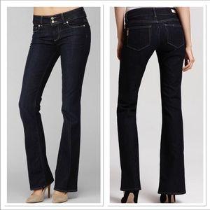 Paige Hidden Hills Memphis wash boot cut jeans